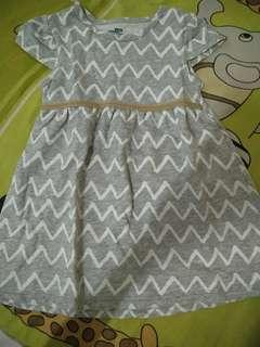 Dress Anak Perempuan 2-3th Abu #sharethelove