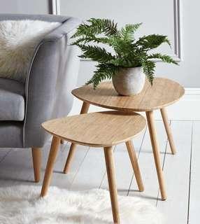 scandinavian nordic side coffee table meja