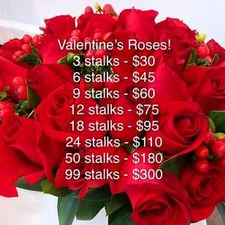 🚚 Valentine's day Roses