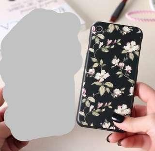 Black floral iphone7+ casing