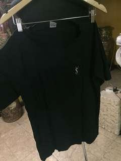 YSL bf vneck tshirt black