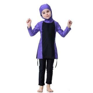 Muslimah Kids Swimming Suit Long Sleeve Pant