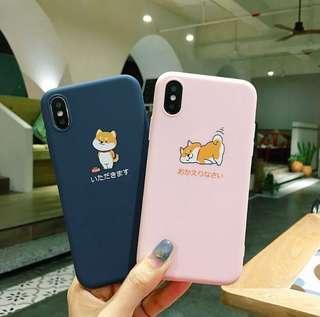 🚚 [po] cute shiba iphone cases