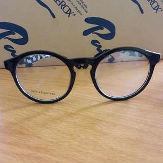 Preloved Kacamata Bening Fashion Import Keren Frame Bulat Bs Ganti Lensa