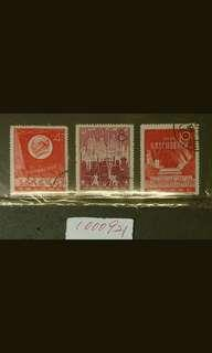 1000921		郵		china celebrate steel production stamp set/3