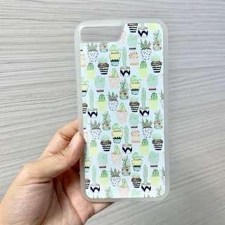 Iphone 7+ cactus pattern casing