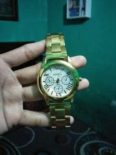 Jam tangan geneva KW gold