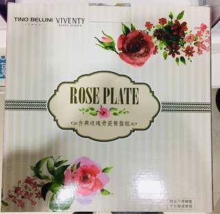 🚚 古典玫瑰骨瓷餐盤組viventyXtino bellini