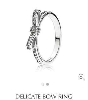 🚚 Pandora Ring Delicate Bow Ring (size 50)