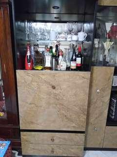 TV and wine cabinet
