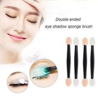 🆕Disposable Double Ended Sponge EyeShadow Brushes Oval Applicator Makeup Tools disposable brush sponge