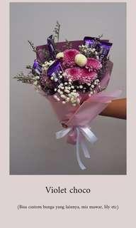 Violet Choco Bouquet