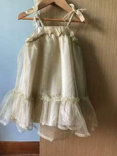 🚚 Champagne coloured girl dress