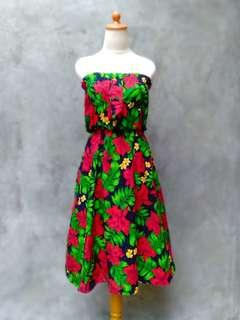 PREMIUM SUMMER FLOWERY VINTAGE DRESS