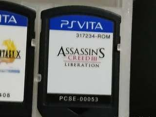 Assasins creed 3 iii liberation sony ps vita game cartridge no box psv psvita