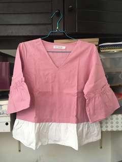 blus pink Cotton Ink