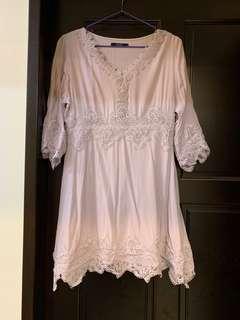 🚚 Lovfee 紫色蕾絲裙擺洋裝