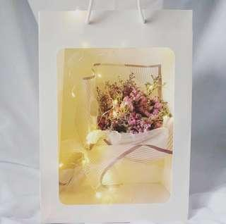 ✨ Valentine's Day Special 「Romantic Paradise」🌹Korean Baby's breath Dried Flower➕greeting card➕fairy lights✨