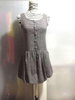 Grey/pink with silver threads dress, no bargaining