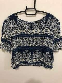 Forever 21 Printed Top