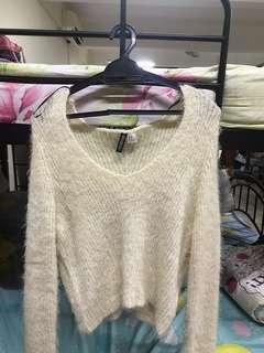 H&M fur knit sweater