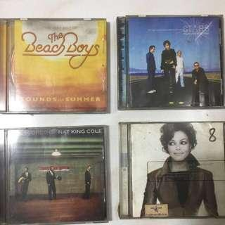Beach Boys, Nat King Cole, The Cranberries and Janet Jackson