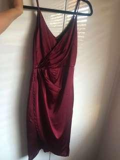 Ally - wine red dress
