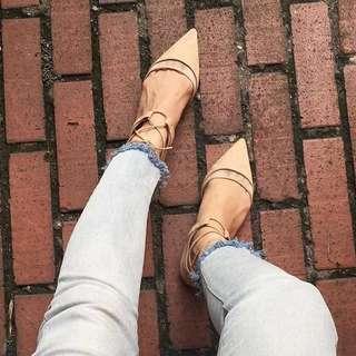 ZARA Flats Lace up Sandals