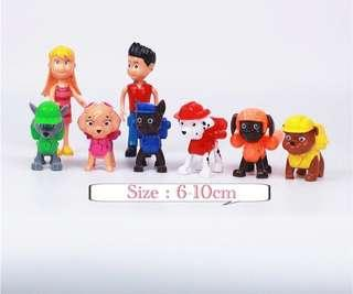 🚚 New paw patrol cake topper decoration figurines Birthday cake party accessories