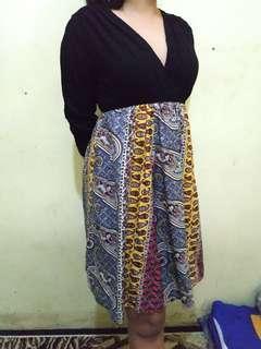 Dress midi batik