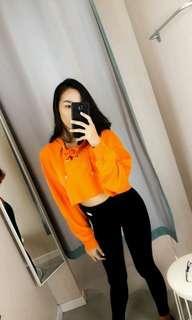 sweatshirt crop wanita h&m