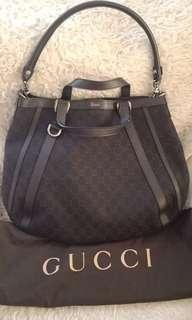 Gucci double handle bag preloved excellent