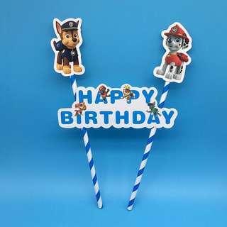 🚚 New paw patrol cake topper birthday cake decoration