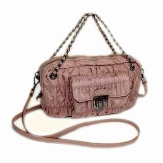 7dfd37fd6dc4 Prada Authentic nylon chain shoulder bag BN2017