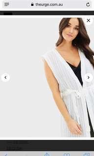 Decjuba Cressida textured long vest