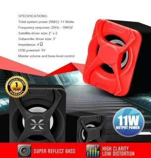 Alcatroz X-Audio 2.1 Speaker Set (Red)