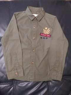 🚚 Army green long sleeve shirt for Boys
