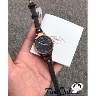 🚚 [SALE] Fossil Georgia Smoke Leather Watch