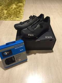 SELLING FIZIK R5B SHOE AND SHIMANO SPD R540 CLIPLESS PEDDALS