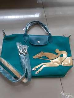 Longchamp year of the horse teal blue #1