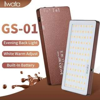 🚚 Iwata GS-01 94 LED Selfie Camera/Camcorder Video Light Panel Super Portable Thin 3000-5500K Color Temperature Dimmable Compatible for Nikon, Canon, DSLR iPhone for Video Vlogging Live Streaming 補光燈