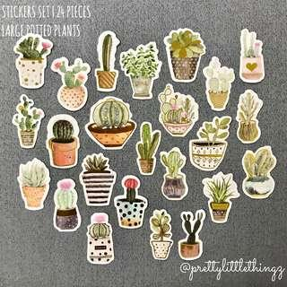 🚚 buy4free1 🌈《instock stickers set》large potted plants