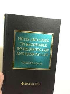 Law on Negotiable Instruments by Aquino