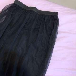🚚 Mesh layered maxi wrap skirt