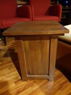 2 x wooden side tables