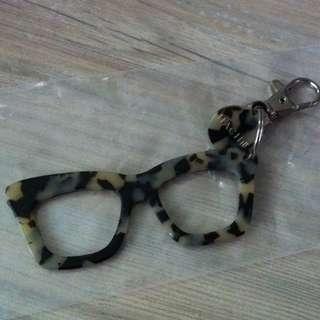 Hachill 鎖匙扣 eyeglass 四眼鏡 keychains