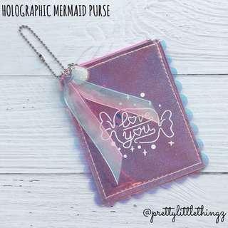 🚚 《instock purse》holographic mermaid