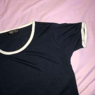 🚚 Topshop baby ringer crop tee shirt