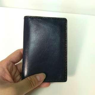 深藍色 皮革 卡套 Leather Card holder