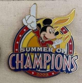 迪士尼襟章 disney pin mickey mouse
